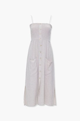 Forever 21 Linen-Blend Pocket Dress