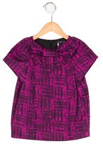 Little Marc Jacobs Girls' Abstract Print Bow-Embellished Top