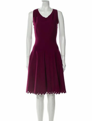 Alaia Scoop Neck Knee-Length Dress Purple