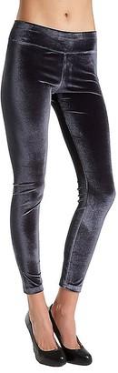 Hue Women's Plus Size Wide Waistband Velvet Leggings