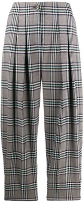 See by Chloe Check Print Balloon Trousers