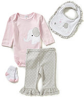 Starting Out Baby Girls Newborn-9 Months Elephant-Appliqued 4-Piece Layette Set