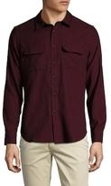 Slate & Stone Cotton Houndstooth Sportshirt