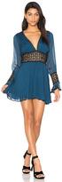 For Love & Lemons Celine Mini Dress in Blue. - size S (also in XS)