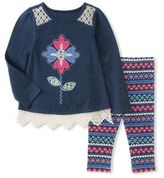 Kids Headquarters Little Girl's Two-Piece Tunic & Leggings Set