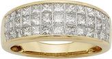 MODERN BRIDE 1 CT. T.W. Diamond 14K Yellow Gold Princess-Cut Wedding Band