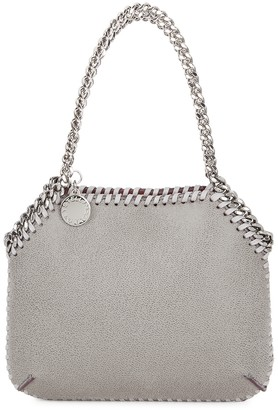 Stella McCartney Falabella Mini Grey Faux Suede Shoulder Bag