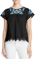 Rebecca Taylor Garden Embroidered Top