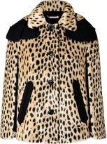 Juicy Couture Honey/Black Cheetah Print Faux Fur Cape