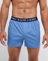 Polo Ralph Lauren Woven Boxers Stretch Slim Fit In Blue Minidot