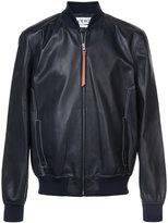 Loewe leather look bomber jacket