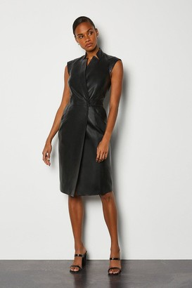 Karen Millen Leather Wrap Dress