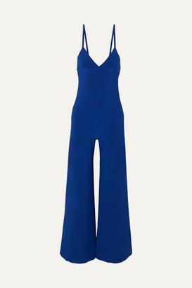 Norma Kamali Stretch-jersey Jumpsuit - Royal blue
