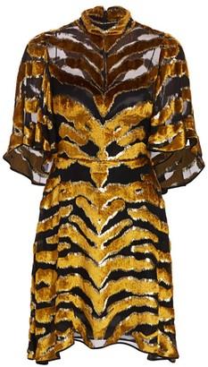 Adam Lippes Tiger-Stripe Burnout Dress