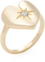 Janis Savitt Women's 18K Yellow Gold & 0.10 Total Ct. Diamond Heart Ring