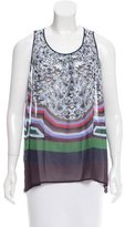 Clover Canyon Sleeveless Abstract Print Top w/ Tags