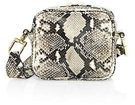 DeMellier Women's Small Athens Snakeskin-Embossed Leather Crossbody Bag