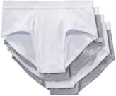 Joe Fresh Men's 4 Pack Briefs, White (Size XXL)