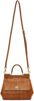 Dolce & Gabbana Brown Eel Small Sicily Bag