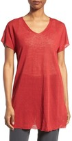 Eileen Fisher Women's Linen Blend V-Neck Knit Tunic