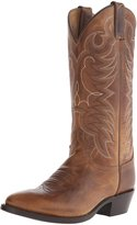 Justin Western Boots Mens Leather Cowboy Round Damiana 8 EE Tan 1567