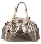 Versace Metallic Leather Handle Bag