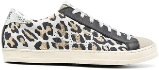 P448 Gold Weiss Leopard Print Low-Top Sneakers