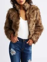 Charlotte Russe Faux Fur Cropped Jacket