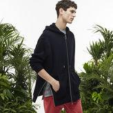 Lacoste Men's Fashion Show Fleece Reversible Hooded Zippered Sweatshirt
