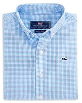 Vineyard Vines Boys' Stowaway Plaid Whale Shirt - Big Kid