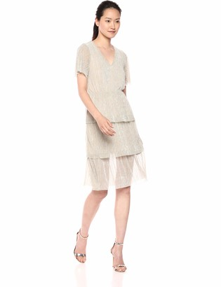 Vero Moda Women's Kimila Short Sleeve Lurex Dress