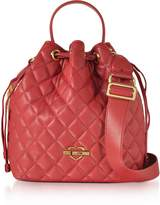 Love Moschino Red Quilted Eco Leather Bucket Bag