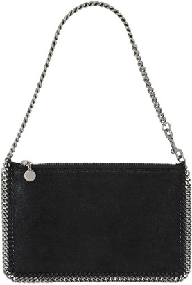 Stella McCartney FALABELLA SHAGGY FAUX DEER CLUTCH BAG