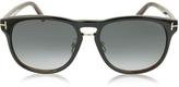 Tom Ford FRANKLIN FT0346 01V Dark Brown Aviator Sunglasses