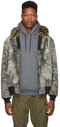 R 13 Multicolor Vintage Flannel Mossy Oak Quilt Lined Jacket