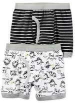 Carter's 2-Pack Dinosaur Boxer Briefs in Black/White