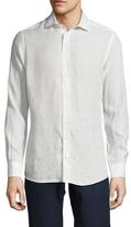 Luciano Barbera Linen Spread Collar Sportshirt