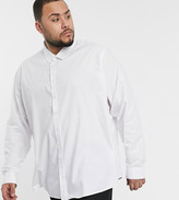 Threadbare Plus basic poplin shirt in white