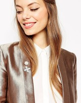 Asos Pack of 2 Pearl Brooches