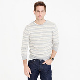 J.Crew Textured cotton crewneck sweater in multi-stripe