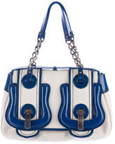 Fendi Patent Leather-Trimmed B Bag