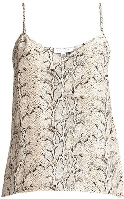 Equipment Layla Snakskin Print Camisole Top