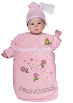Rubie's Costume Co Costume Co (Canada Costume Tyke or Treat Baby Bunting Costume Pink Princess, Princess, 0-9 Months