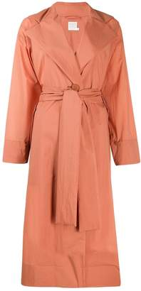 Pleats Please Issey Miyake belted trench coat