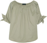 Hatch Isla Gathered Poplin Blouse - Army green