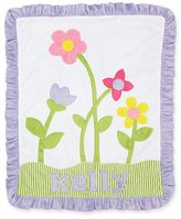Boogie Baby Petal Pusher Plush Blanket, White/Lilac