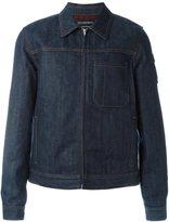 Alexander McQueen boxy fit denim jacket - men - Cotton/Wool - 56