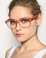 Jeepers Peepers Wooden Frame Clear Sunglasses