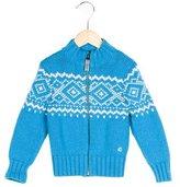 Petit Bateau Boys' Wool Fair Isle Cardigan