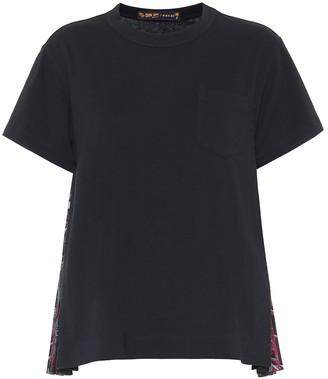 Sacai Pleated cotton T-shirt